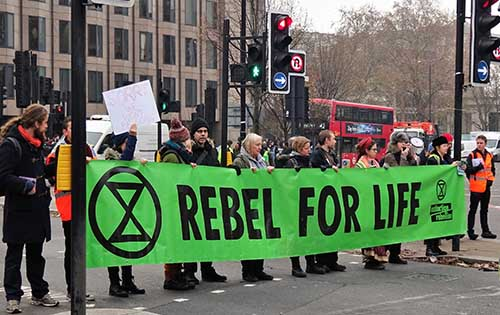 Calling Extinction Rebellion Protesters