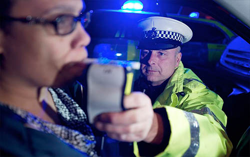 When can the police request a breath test?